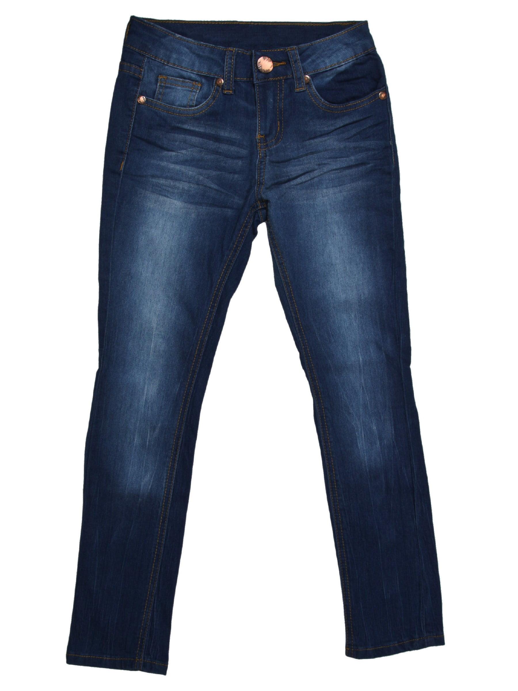 Girls Kids Stretch Pockets Skinny Denim Jeans Or Shorts (MLG1)
