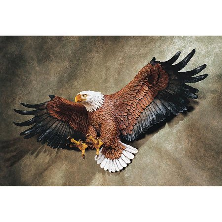 Eagle Wall Hanging (American Eagle Sculptural Wall Figurine Hanging)