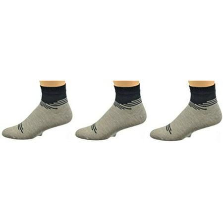 Sierra Socks Men's Bamboo Low Cut Seamless Toe Socks 3 Pair Pack ()