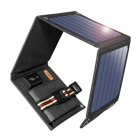 Suaoki 14W Solar Charger with Portable Solar Panels for Smartphones and Other 5V USB Devices