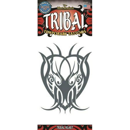 Tinsley Transfers Heart Tribal Temporary Tattoo FX, Black ()