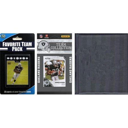 C&I Collectables NFL Oakland Raiders Licensed 2010 Score Team Set and Favorite Player Trading Card Pack Plus Storage Album
