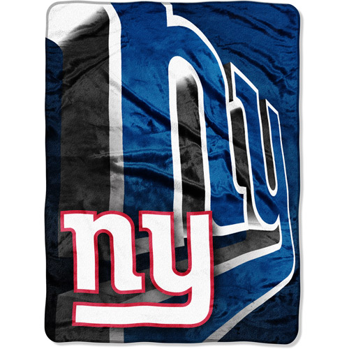 "NFL Bevel 60"" x 80"" Micro-Raschel Throw, Giants"