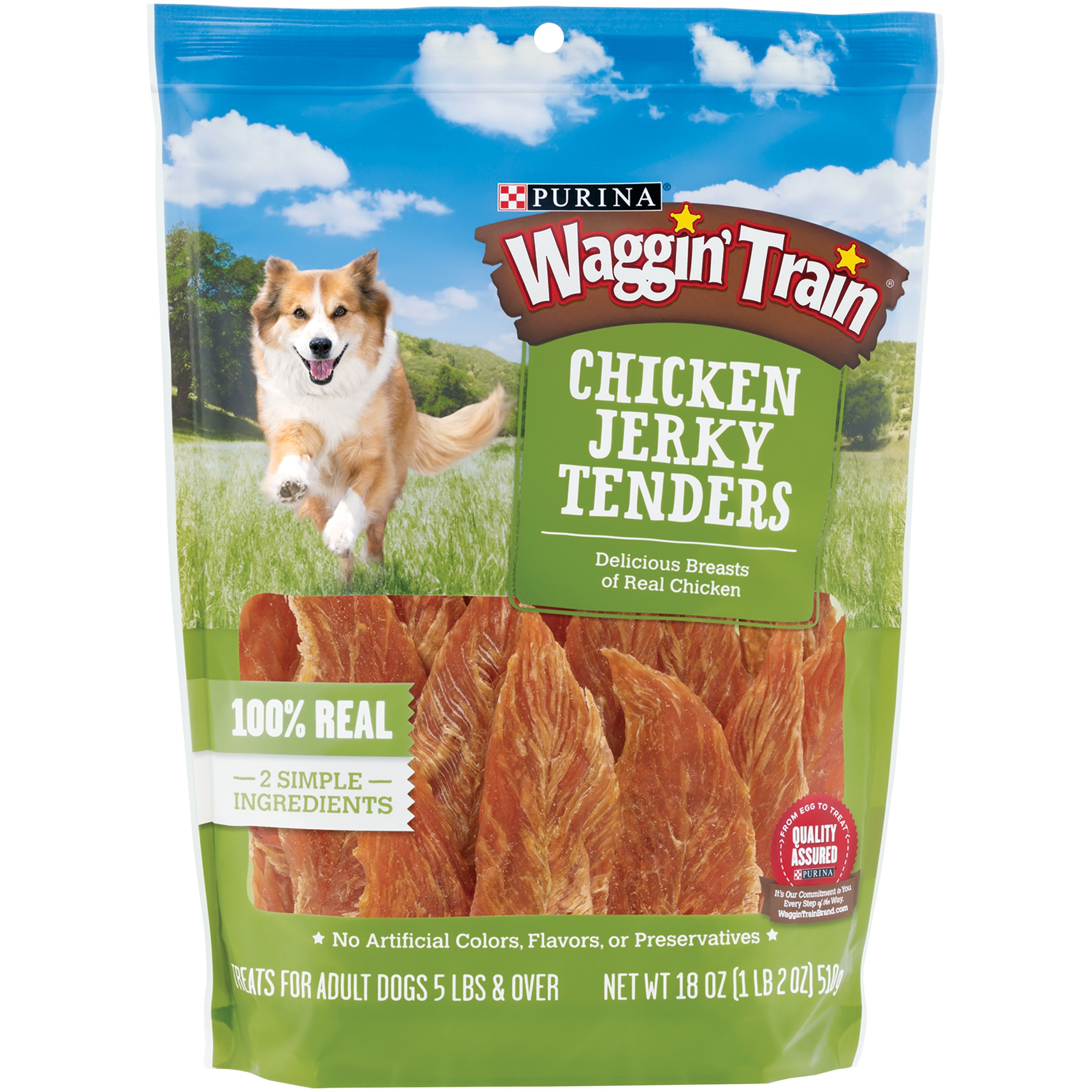 Purina Waggin' Train Chicken Jerky Tenders Dog Treats 18 oz. Pouch by Nestle Purina Petcare Company