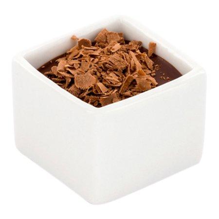 Mini Square Porcelain Dish, Mini Quadrato Dish, Square Ramekin - White - 1 oz - 10ct Box