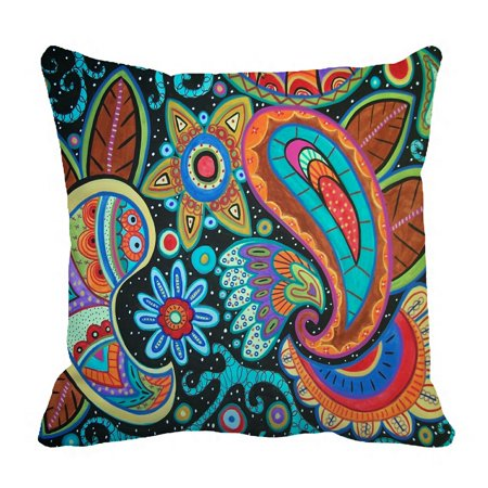 ZKGK Paisley Flower Floral Pillowcase Home Decor Pillow Cover Case Cushion Two Sides 18x18 Inches