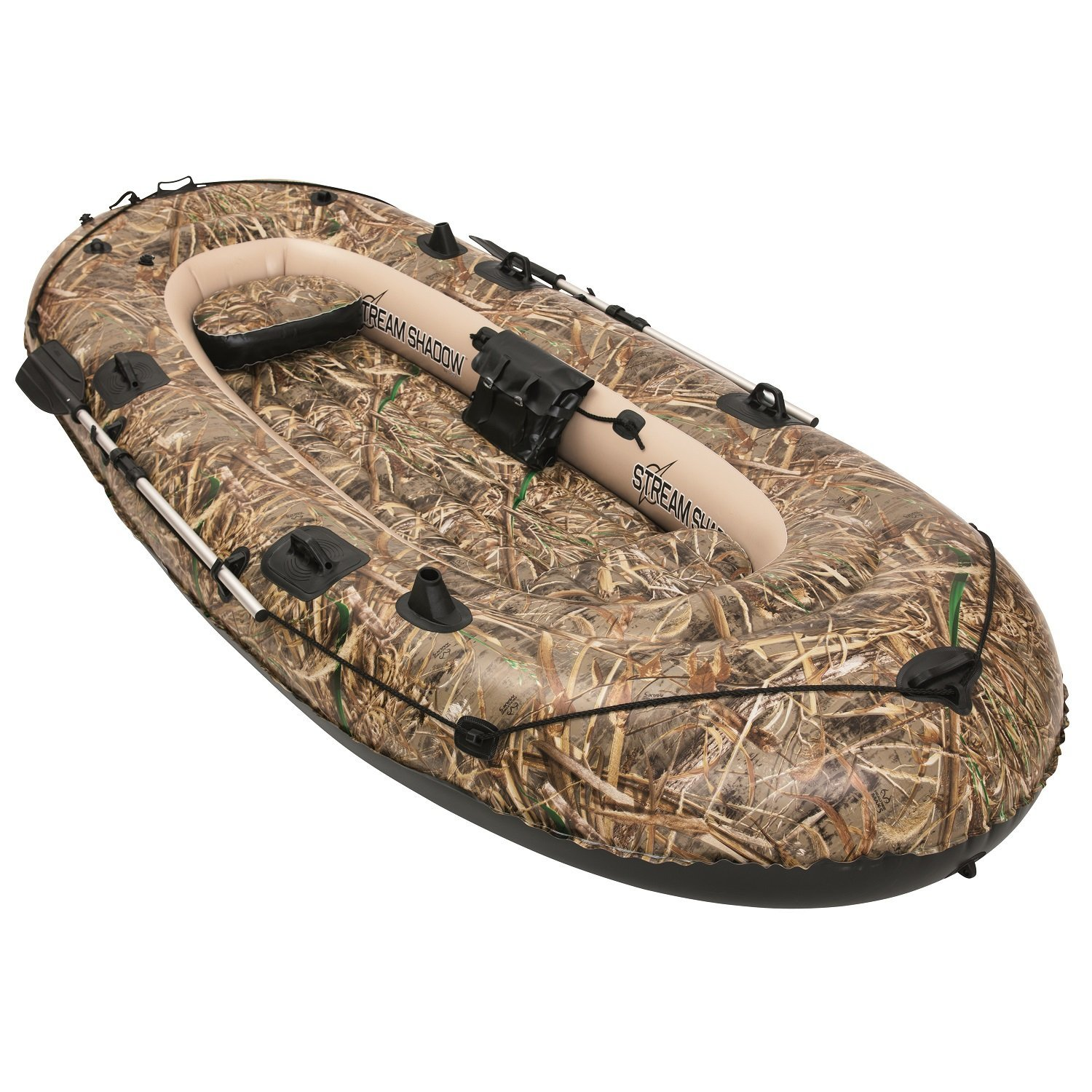Bestway Hydro Force 137 x 56 Inches Stream Shadow Inflatable Boat/ Raft   92101E