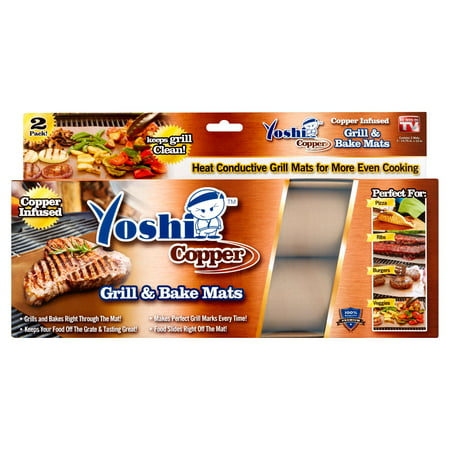 (2 pack) Yoshi Copper Grill Mat, 2 -