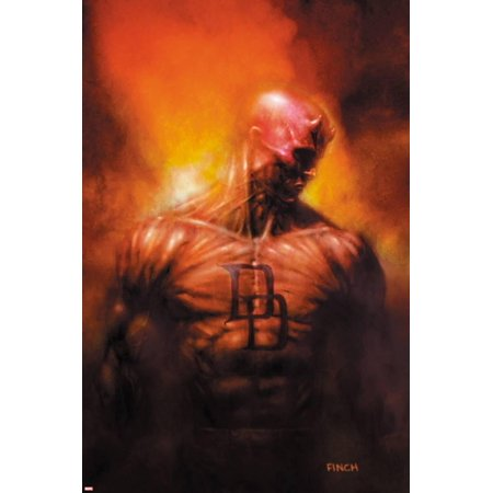 David Finch Cover - Shadowland: After The Fall No.1 Cover: Daredevil Standing Print Wall Art By David Finch