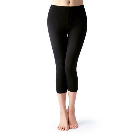 Women Seamless Basic Stretch Capri Sports Yoga Leggings