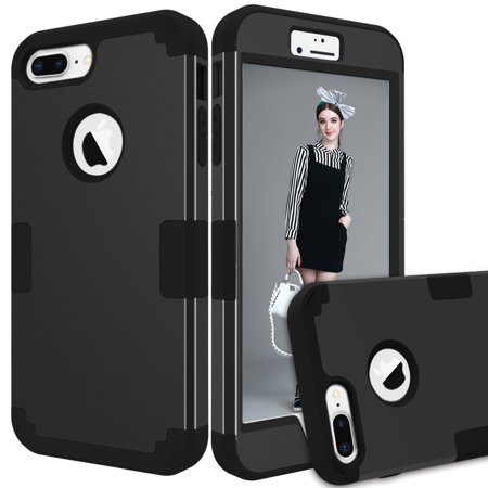 Case For Apple iPhone 7/iPhone 8 Hybrid Heavy Duty Shockproof 3 In 1 Case