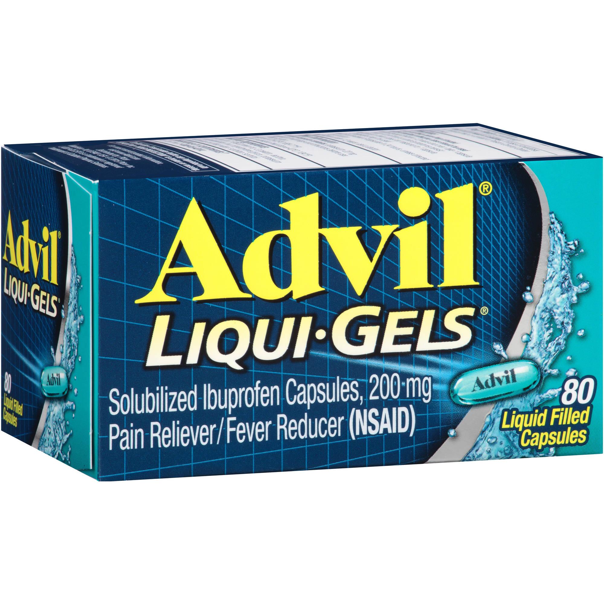 Advil Liqui-Gels Pain Reliever / Fever Reducer (Ibuprofen), 200 mg 80 count