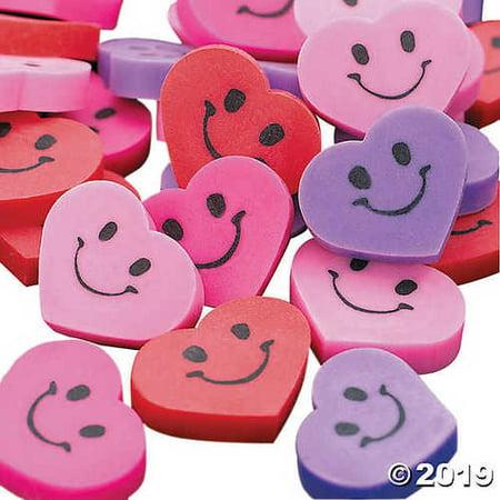 Face Erasers (Mini Smile Face Heart Erasers)