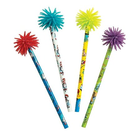 , Pencils include designs from cat in the Hat, Horton Hears a who, and green eggs and Ham By Dr. Seuss Ship from US