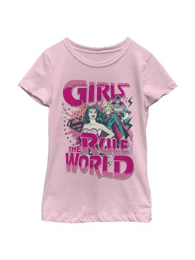 Justice League Girls' Girls Rule The World T-Shirt
