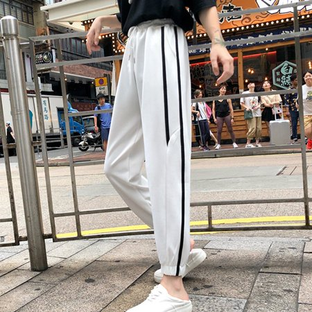 Women's Loose All-match Sweatpants Harem Pants Simple Casual Solid Color Pants for Autumn