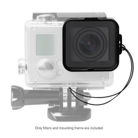 Andoer Square Lens Filter Protector Kit Set(ND2/ND4/ND8/ND16) for GoPro Hero4/3+/3 w/ Mounting Frame Holder - image 5 de 7