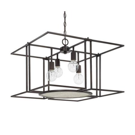 Capital Lighting Alston  16 75   Four Light Foyer  Old Bronze Finish With Clear Organic Glass