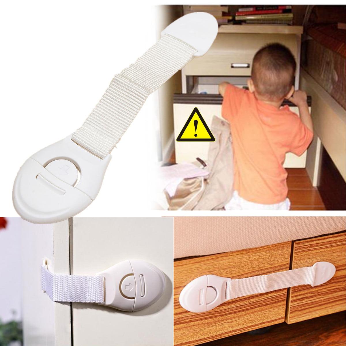 Kids Baby Door Drawer Fridge Kitchen Toliet Cabinet Cupboard Safety Lock Y