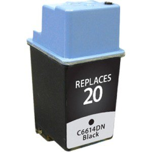 CIG Remanufactured Black Ink Cartridge (Alternative for HP C6614D 20) (455 Yield) (Ink For Hp 5520 Printer)