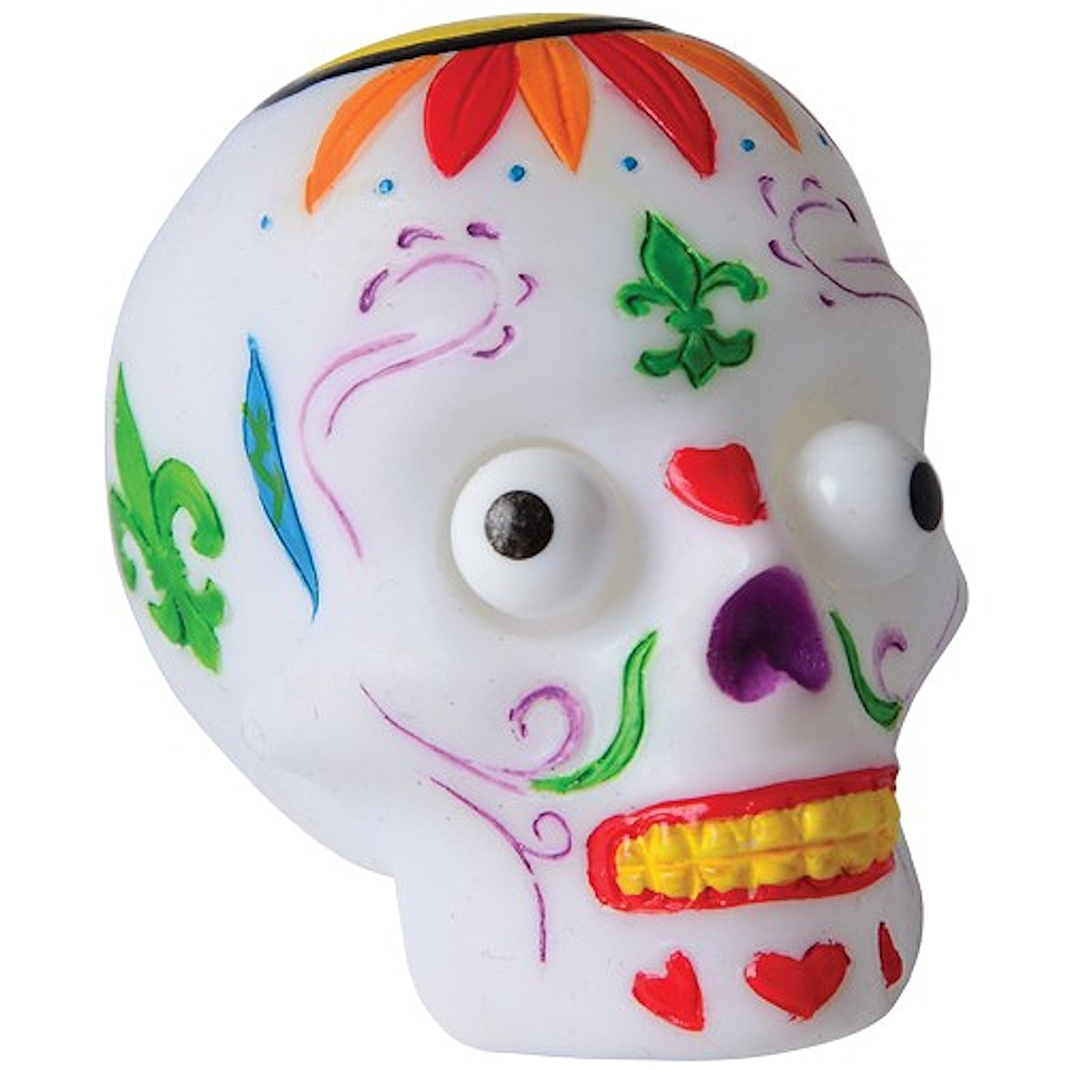 Popping Eye Day of the Dead Sugar Skull Head~12 Pcs Set Eyes Pop Out TOY-SS-12