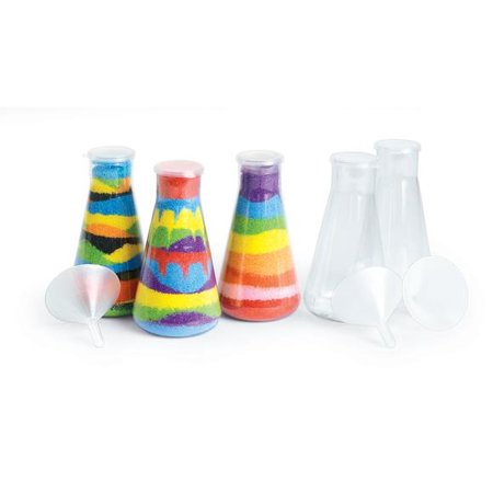 Colorations Super Sand Art Bottles & Funnels - Set of 12 (Item # SANDBOT) (Sand Bottles)