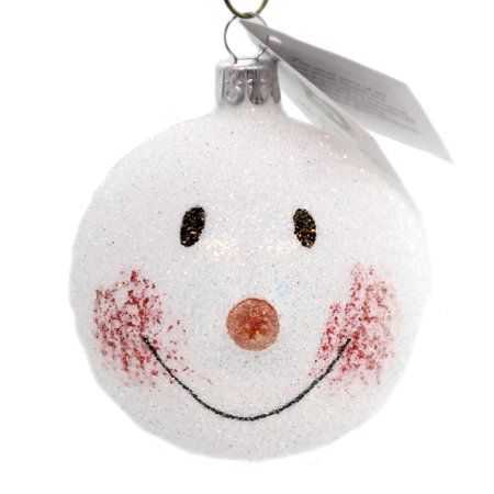 - Golden Bell Collection SNOWMAN FACE Glass Ornament Czech Republic Sn232