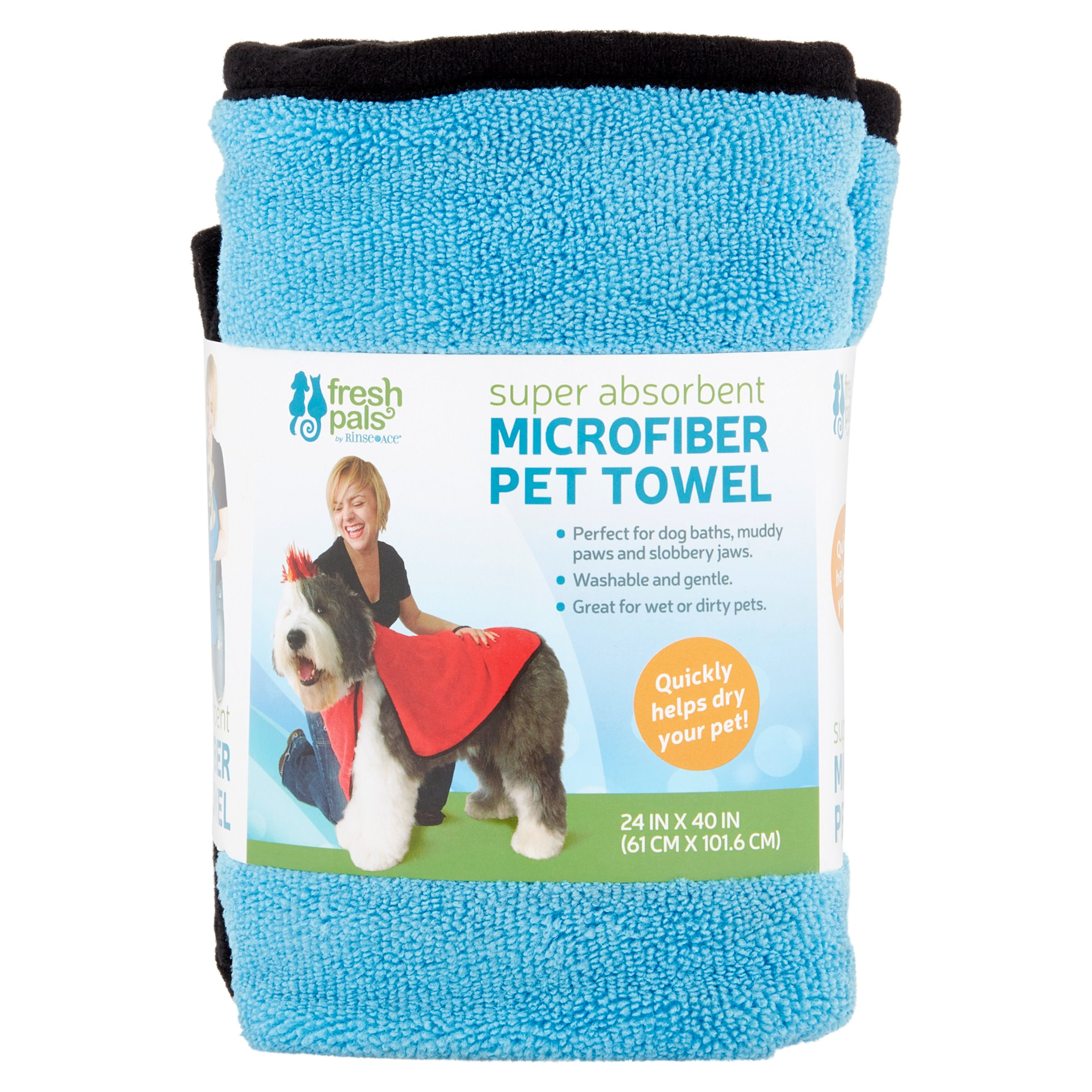 Ginsey Fresh Pals Super Absorbent Microfiber Pet Towel