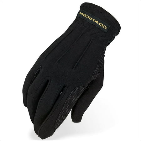 3 SIZE HERITAGE POWER GRIP RIDING GLOVES HORSE EQUESTRIAN - Heritage Grip