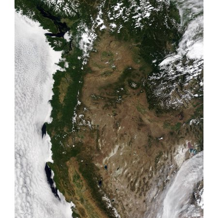 This image of the Pacific Northwest region of the United States was acquired July 3 2006 Poster (Pacific Northwest Region Of The United States)