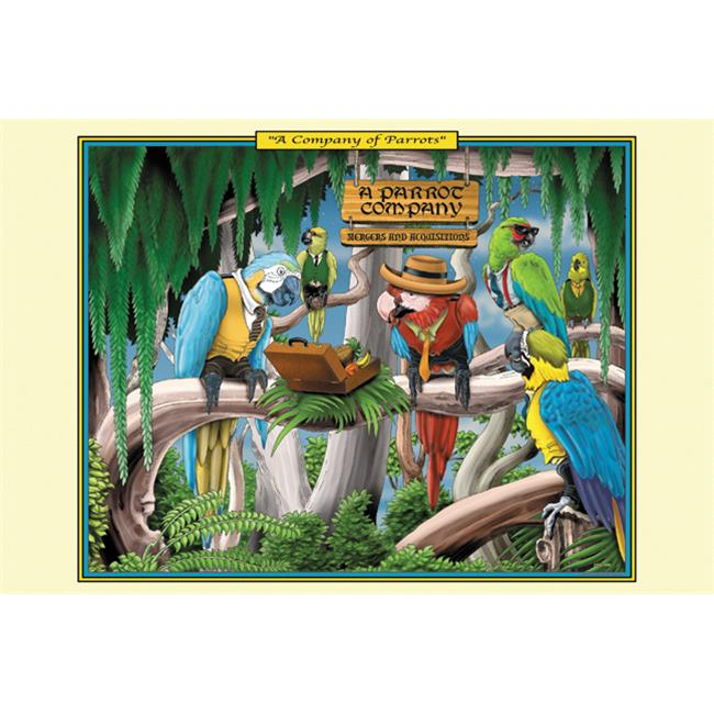 Buy Enlarge 0-587-25301-0P12x18 Company of Parrots- Paper Size P12x18