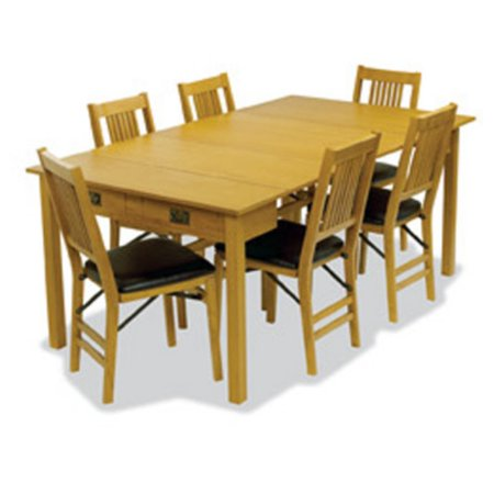 Hardwood traditional Expanding table 3 positions - Oak ()