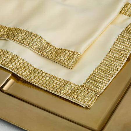 Quasimoon Gold Diamond Mesh Table Runner (12 x 72) by PaperLanternStore ()