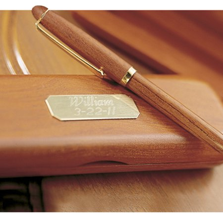 Rosewood Pen Box - Personalized Genuine Rosewood Pen and Case