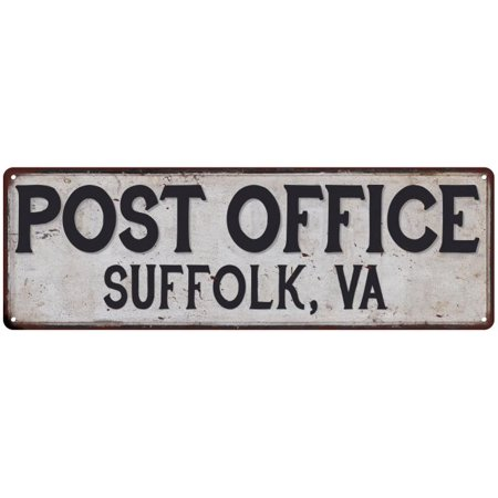 Suffolk Metal - SUFFOLK, VA POST OFFICE Vintage Look Metal Sign Chic Retro 6182426
