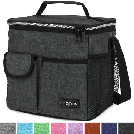 OPUX Lunch Bag Insulated Lunch Box for Women, Men, Kids | Medium Leakproof Lunch Tote Bag for School, Work | Lunch Cooler with Shoulder Strap, Pocket | Fits 8 Cans ()