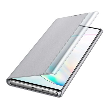 SAMSUNG Note 10 Plus S-View Flip Cover, Silver