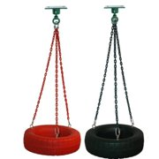 Tire Swing Complete with Fully Coated Chain & Swivel, Red