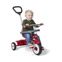 Radio Flyer, 3-in-1 Stroll 'n Trike, 3 Stages Grows with Child, Red