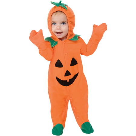 Living fiction lil pumpkin halloween baby infant costume, orange S - Homemade Toddler Pumpkin Halloween Costume