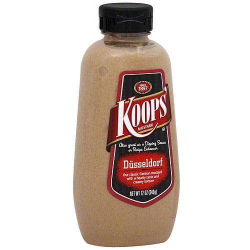 Koops' Dusseldorf Mustard, 12 oz (Pack of 12)