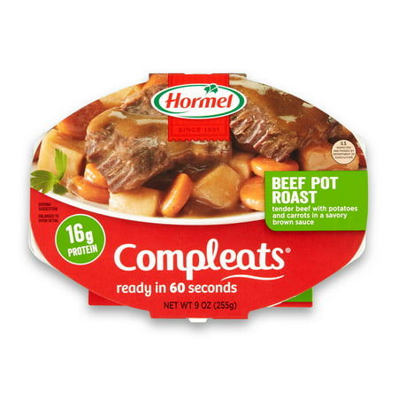 (6 pack) Hormel Compleats Beef Pot Roast, 9 Ounce (Best Crockpot Beef Stew)