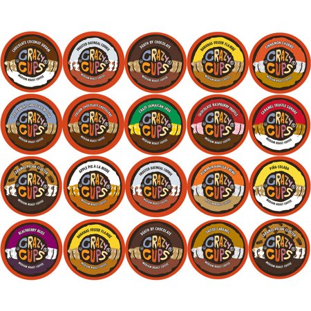Crazy Cups, Flavored Coffee K-Cups Variety Pack Sampler, 20 (Green Mountain Variety Pack)