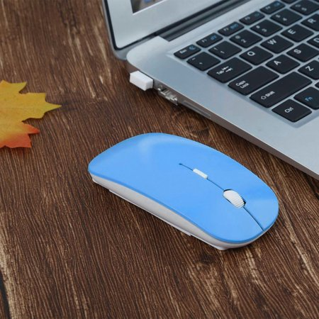 2.4GHz Wireless Optical Mouse 4 Keys Computer PC Mice USB 2.0 Ultra Slim - image 10 of 10
