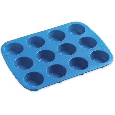 Wilton Easy Flex 12-Cavity Mini Silicone Muffin Pan (Flex Muffin Pan)