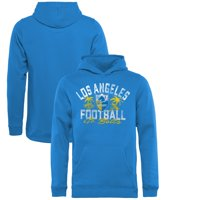 Los Angeles Chargers NFL Pro Line by Fanatics Branded Youth Hometown Collection LA Football Pullover Hoodie - Powder