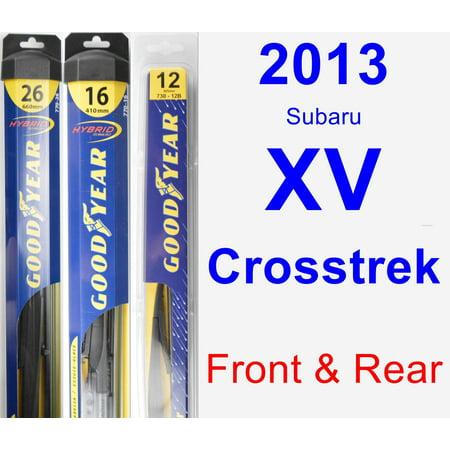 2013 Subaru XV Crosstrek Wiper Blade Set/Kit (Front & Rear) (3 Blades) -