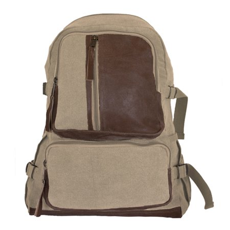 Fox Outdoor 43-665 Retro Vintage Airmans Rucksack - Khaki