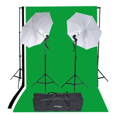 Andoer Photography Studio Portrait Product Light Lighting Tent Kit Photo Video Equipment with Carrying