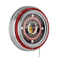 Vintage Chicago Blackhawks® Neon Clock - 14 inch Diameter